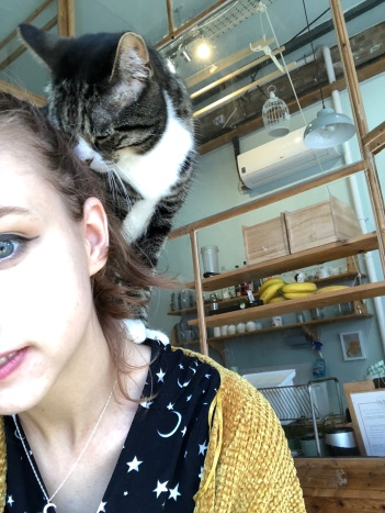 Petrus on my shoulder!